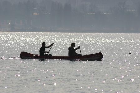 Geführte Kanutour von Kreuzlingen zum Konstanzer Hörnle auf dem Bodensee