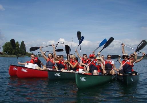 Teamevent geführte Kanutour auf dem Bodensee