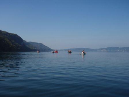 Schulklassen-Kanutour auf dem Bodensee von Bodman zur Marienschlucht und zurück