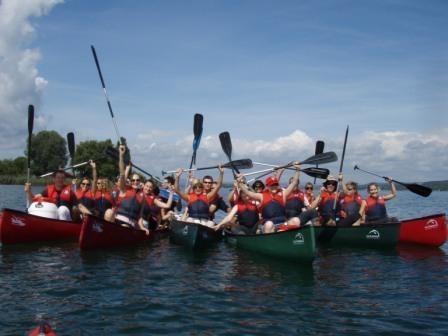 Teamevent: Geführte Kanutour auf dem Bodensee