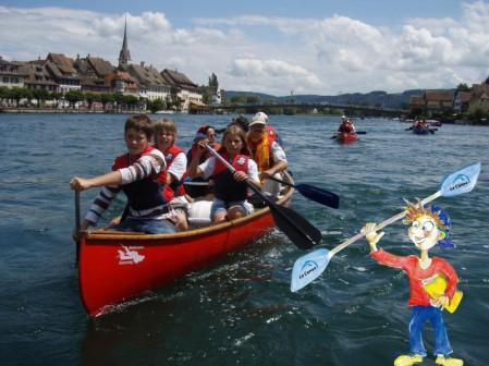Schulausflug mit dem Kanu auf dem Bodensee